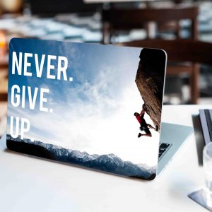 Never Give Up Laptop Skin