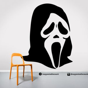Scary Mask Wall Decal