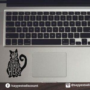 We re All Mad Here Laptop Decal