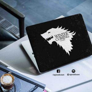 Winter is Coming Wolf Laptop Skin