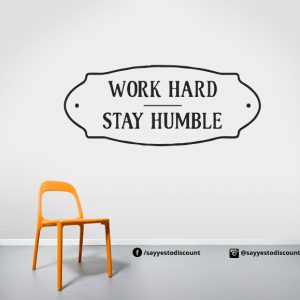 Work Hard Wall Decal