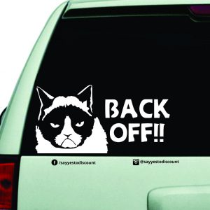 Back Off Car Decal