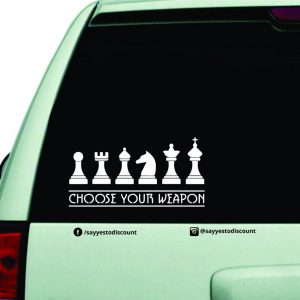 Choose Your Weapon Car Decal