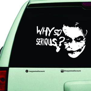 Why so Serious Joker Car Decal