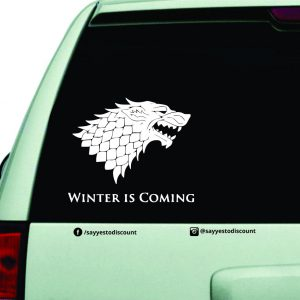 Winter is Coming Car Decal