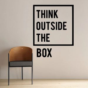 Think Outside the Box Wall Decal
