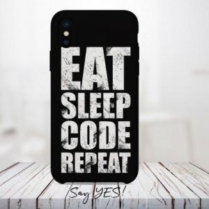 Eat Sleep Code Repeat Mobile Cover