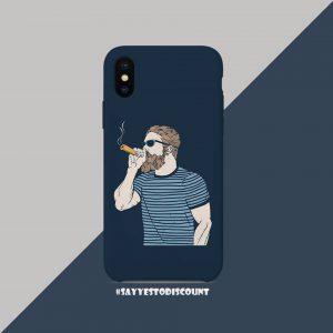 Smoking Cigarette Chillum Man Attitude Printed Mobile Cover