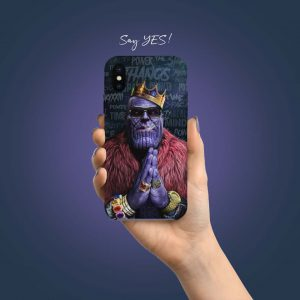 Avengers End Game Thanos Printed Mobile Cover