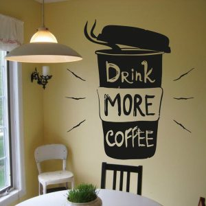 DRINK MORE COFFEE WALL DECAL