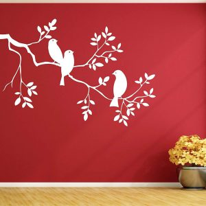 BIRDS ON TREE WALL DECAL