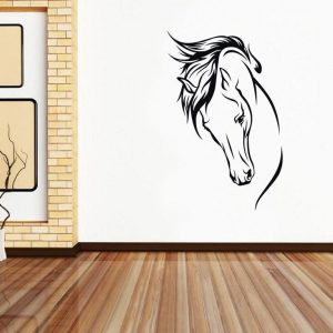 HORSE FACE WALL DECAL
