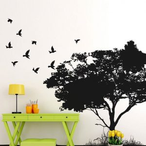 BIRDS COMING HOME BACK WALL DECAL
