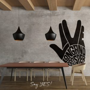 Live Long and Prosper Wall Decal