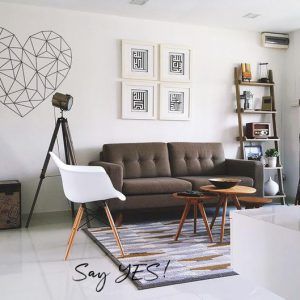 Heart Sketch Design Wall Decal