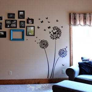 Trees Bunch of Butterfly Wall Decal