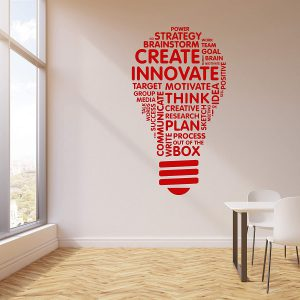 Innovate Bulb Wall Decal