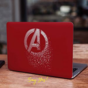 Avengers Red Laptop Skin