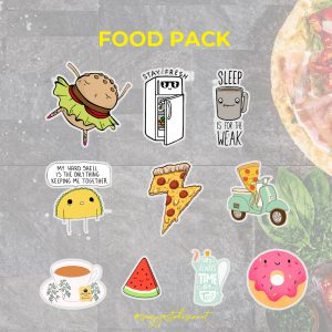 Foody Stickers Pack