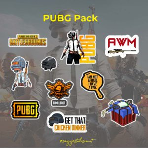 PUBG Mobile Game Stickers Pack