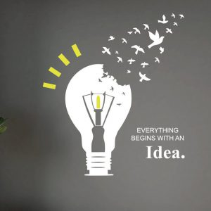 Everything Begins with an Idea Wall Decal