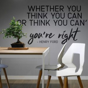 Motivational Quote Wall Decal