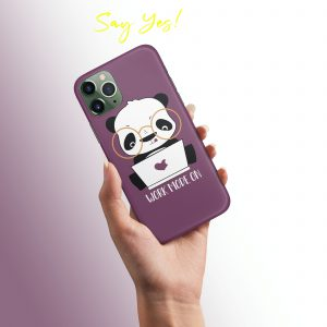 Work Mode Cute Panda Mobile Cover
