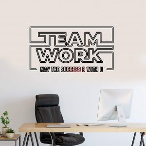 Teamwork May Success be with You Wall Decal