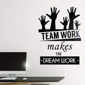 Teamwork Makes the Dreamwork Office Wall Decal