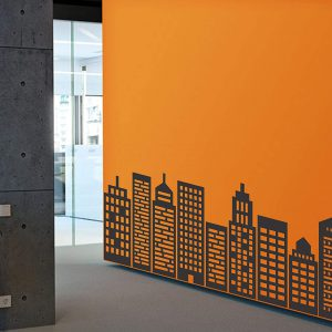 Buildings Skyline Wall Decal