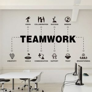Teamwork Values Office Decal