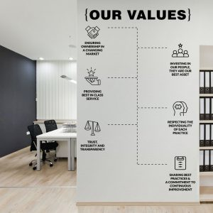 Our Values Office Wall Decal