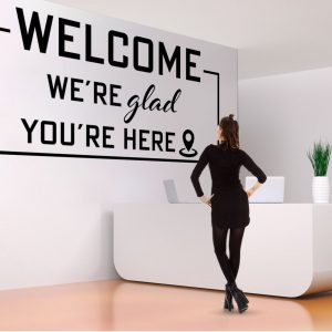 Welcome Office Wall Decal
