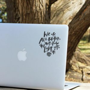 All Broken Laptop Decal