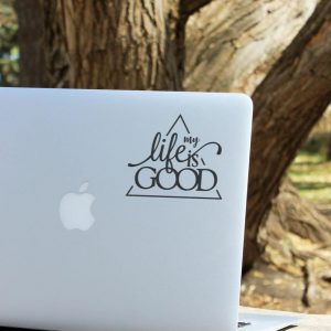 Life is Good Laptop Decal