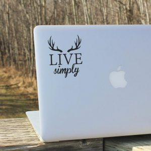 Live Simply Laptop Decal