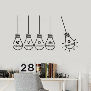 Success Idea Bulb Wall Decal