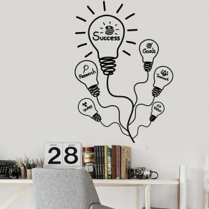 Success Bulb Wall Decal
