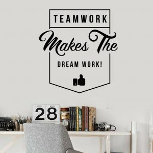 Teamwork Makes the Dreamwork Office Wall Decor