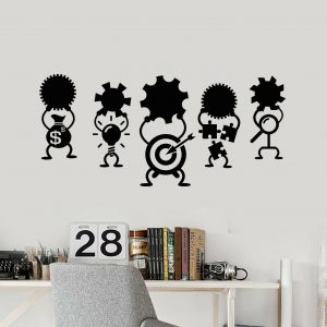 Success Goals Icons Wall Decal