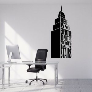 No Elevator to Success Wall Decal