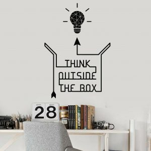 Think Outside Box Wall Decal