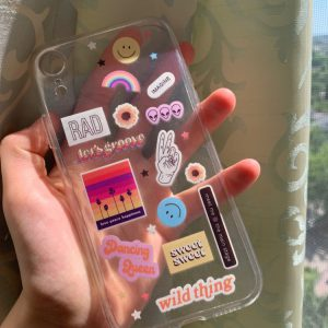 Sticker Bombing Transparent Mobile Cover