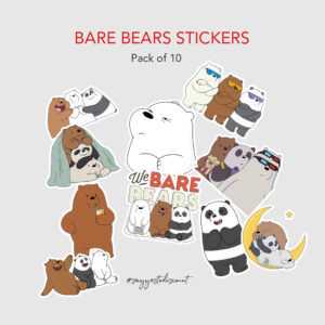 Bare Bears Stickers Pack