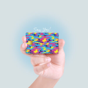 Color Camo Debit/Credit Card Skin