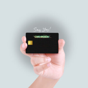 Card Broken Debit/Credit Card Skin