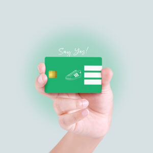 Green Sneaker Debit/Credit Card Skin