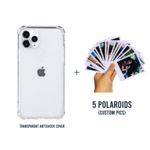 Clear Antishock Mobile Cover and Custom Polaroids for all Models