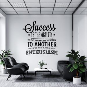 Success Motivational Office Decal