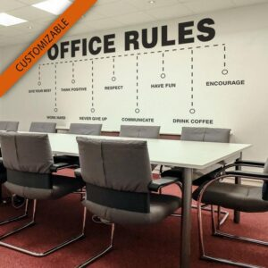 Office Rules Customizable Wall Decal